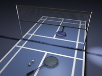 Badminton Court & Rackets