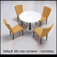 modern chairs table 3d model