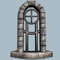 medieval castle window 3d model