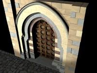historic portal lombard italian 3d blend