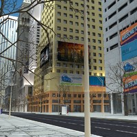 High Definition 3D City Street Day