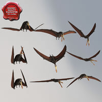 3d model pterosaur static poses