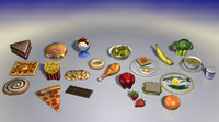 Foods 1 (Low Poly)
