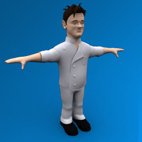 cartoon character 3d model