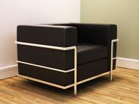 modern grand comfort chair 3d model