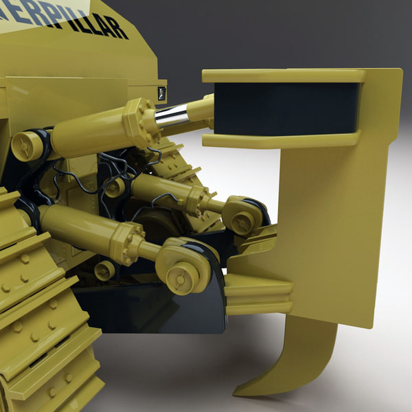 lowboy trailer western star 3d model - Lowboy Trailer Western Star and Bulldozer... by 3d_molier