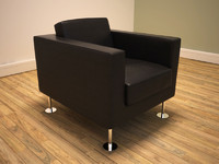 3d modern contemporary armchair