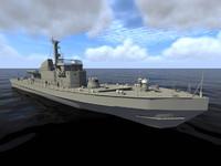 warship ORP Fala
