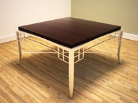 ornate metal framed coffee table 3d model