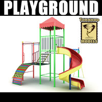 3d model playground ground
