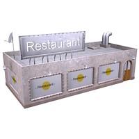 3d model restaurant