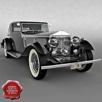 rolls roys 1933 3d model