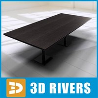 Wooden table by 3DRivers