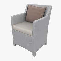 armchair barcelona richard frinier 3d model