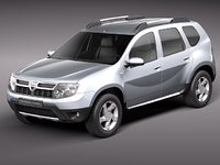 dacia duster 2010 suv 3d model