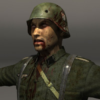 Zombie German Soldier