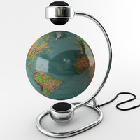 magnetic globe maps 3d model