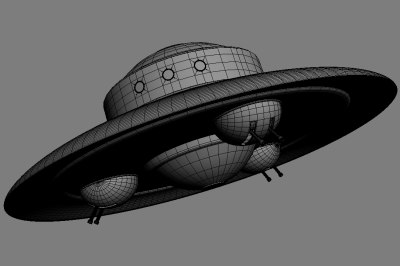 haunebu nazi ufo ww2 3d model - Haunebu 2 WW2 Nazi UFO... by vitaloverdose