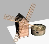 3d model windmill miller house