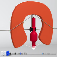 horseshoe lifebuoy 3d model