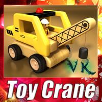 wooden toy crane 3d model