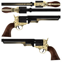 Colt 1851 Navy (Wood Grip & Dark Metal)