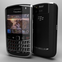 blackberry bold 9650 3d model