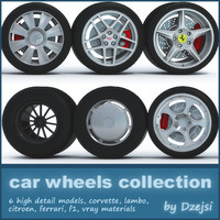 car wheels 3d max