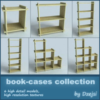 3d book-cases furniture