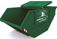 trash container dumpster 3d model
