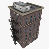 apartment block 3d model