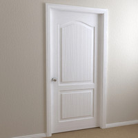 interior door - 2-panel 3d 3ds