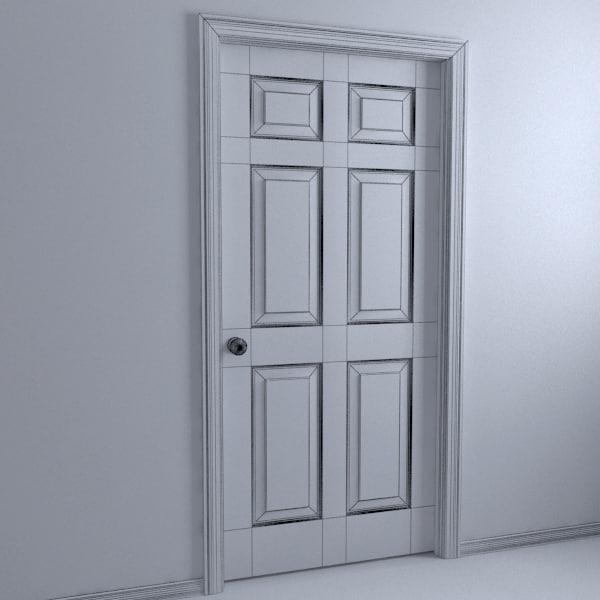 10 interior doors 3ds for 10 panel interior door