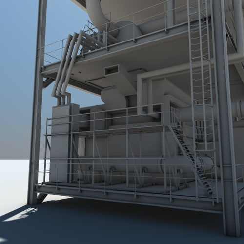 industrial plant 3d model - Industrial Plant... by Polyx