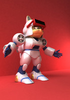 samurai pizza cats 3d model