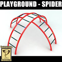 playground element - spider 3d model