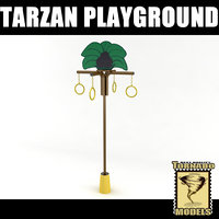 playground element - tarzan 3d model
