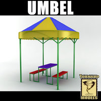 3d umbel table model