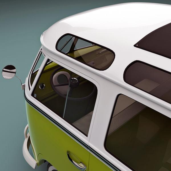 Turbo Microbus: Bulli Type 2 3d Model