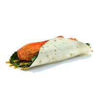 spicy chicken gowrap 3d model