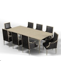 pierre dining table 3d model