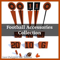 Low Polygon Football Accessories Collection