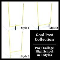Low Polygon Goal Post Collection