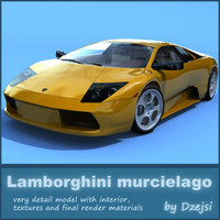 lamborghini murcielago materials 3d model