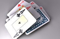 Deck of playing cards (poker, black jack, casino)