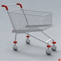 3d model cart shopping