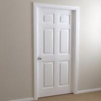 interior door - 6-panel 3d model
