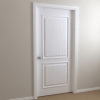 3d model interior door - raised