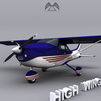 High Wing Airplane