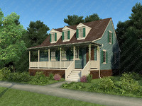 house hot humid climate 3d model